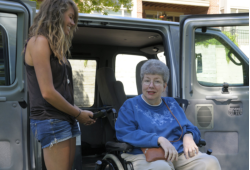 rescuing an elderly woman